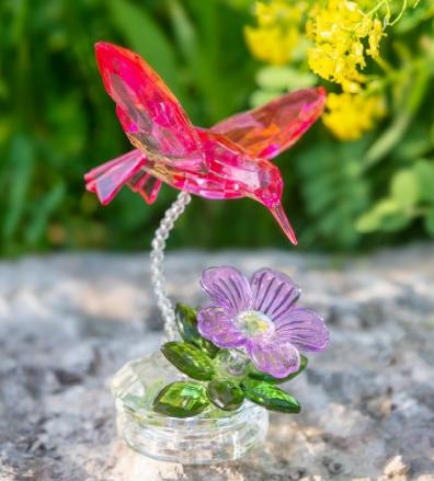 Hummingbird Garden Acrylic Figure