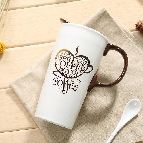 17oz Coffee Love Ceramic Travel Mug