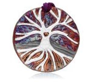 Raku Medallion - Tree of Life