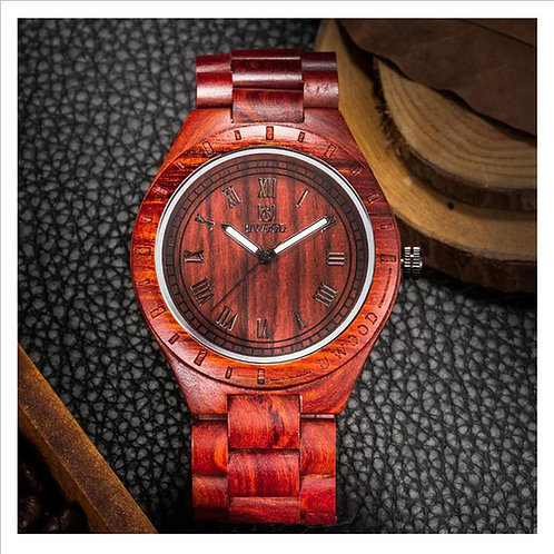 Red Wooden Watch