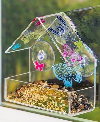 Butterfly Window Bird Feeder