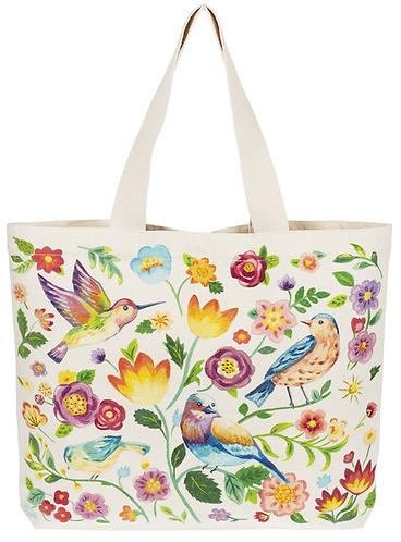 Canvas Tote Bag - Birds