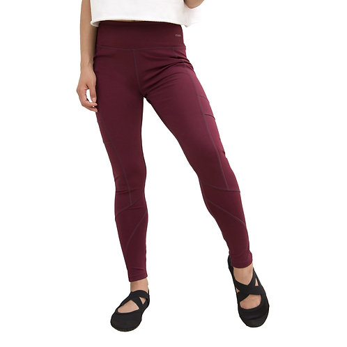 Burgundy Crossover Leggings