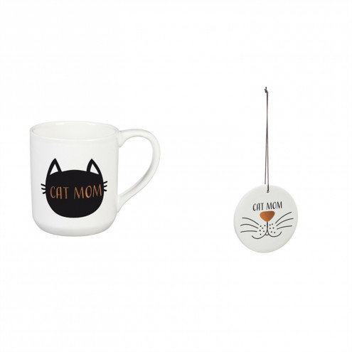 Cat Mom cup/coaster gift set