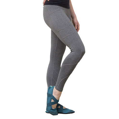 Grey Crossover Leggings