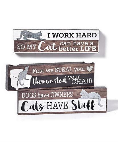 Cat Desk/Wall Plaque