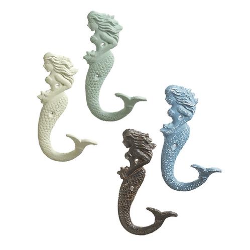 Cast Iron Mermaid Wall Hook