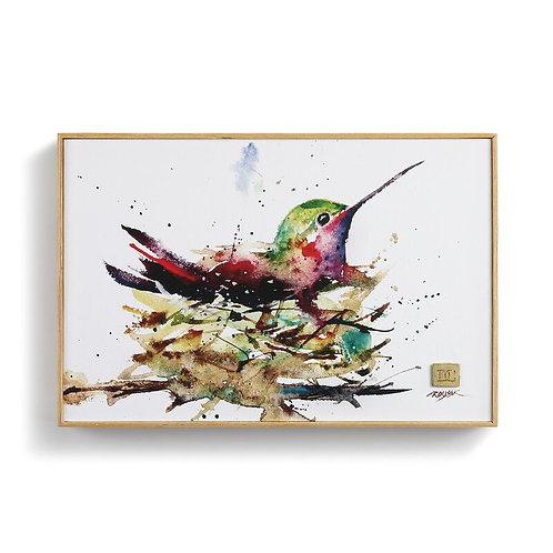 Hummingbird in Nest Wall Art