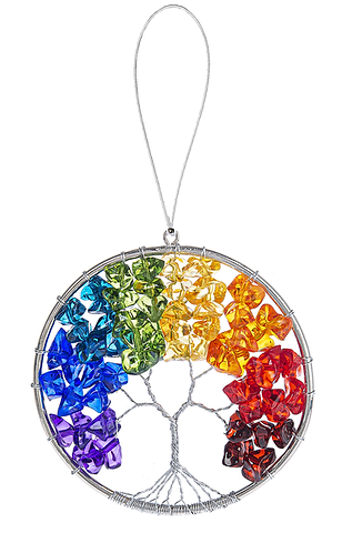 Rainbow Tree of Life Ornament