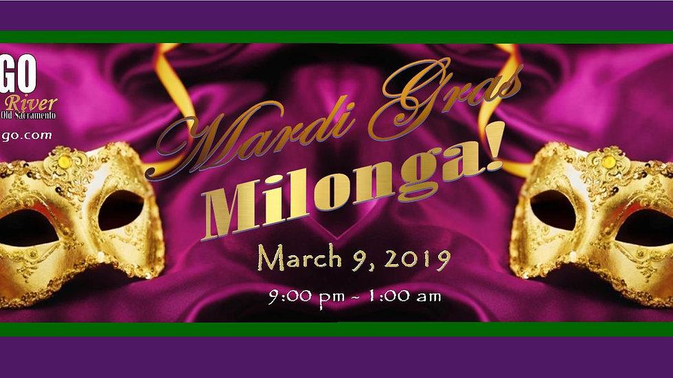 Mardi Gras Milonga ~ March 9, 2019
