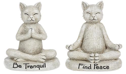 Zen cat figurine