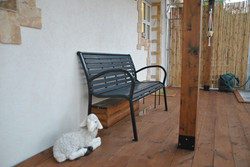 Bench on the deck