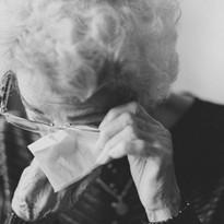 Grandma crying