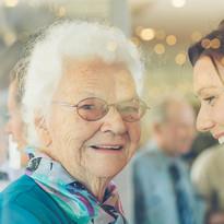 Grandmaa and grandaugther at wedding