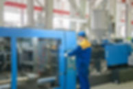 Industrial injection molding press machi