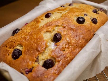 My Go-To Blueberry Banana Bread