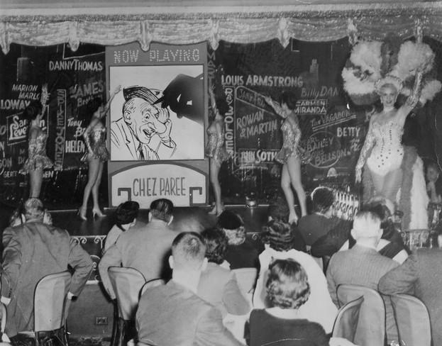 Chez Paree Lenn drawing Jimmy Durante cr