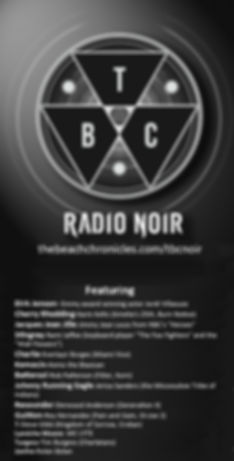 TBCRadio Noir star lineup w logo for  20