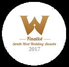 Finalist Award for South West Wedding Awards 2017