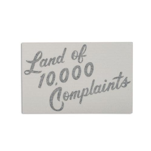 10,000 Complaints Die-Cut Sticker