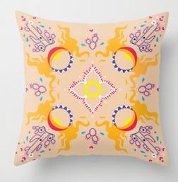 Sun Cactus Pillow