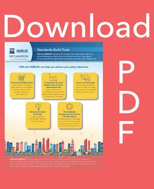 Download CEN and CENELEC Declaration brochure