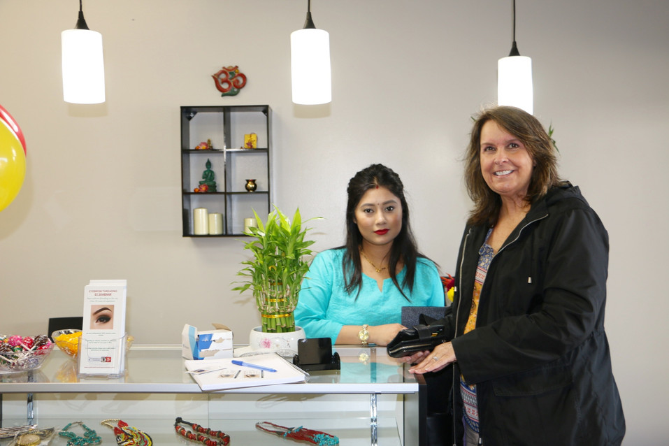 eyebrow threading by Shabnam special customers