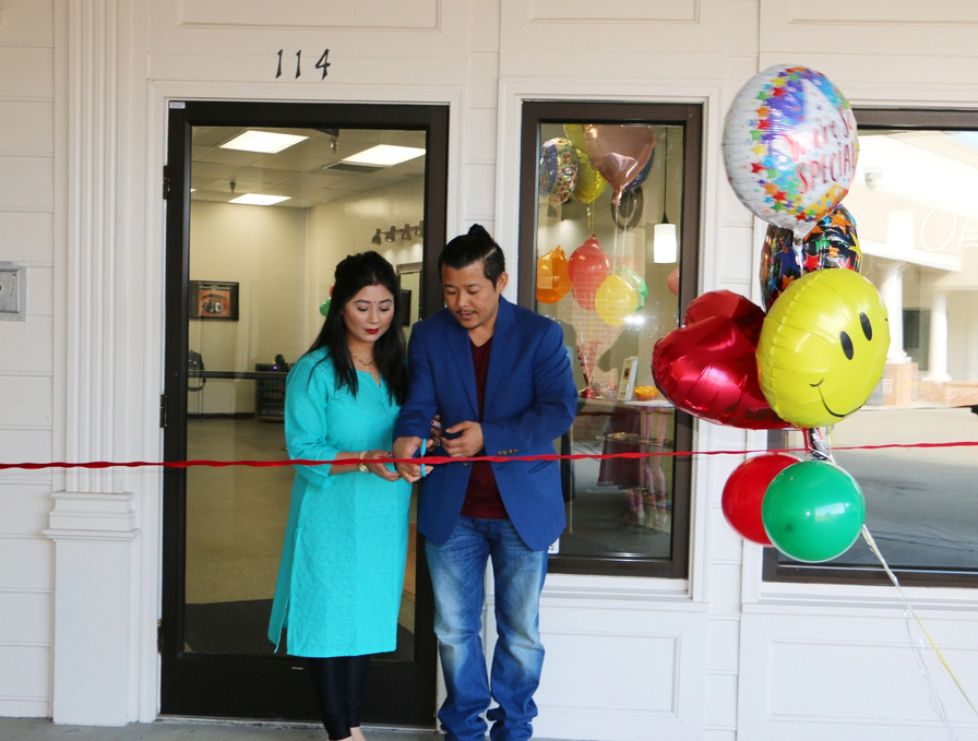 Opening Day and ribbon cutting with eyebrow threading by Shabnam team