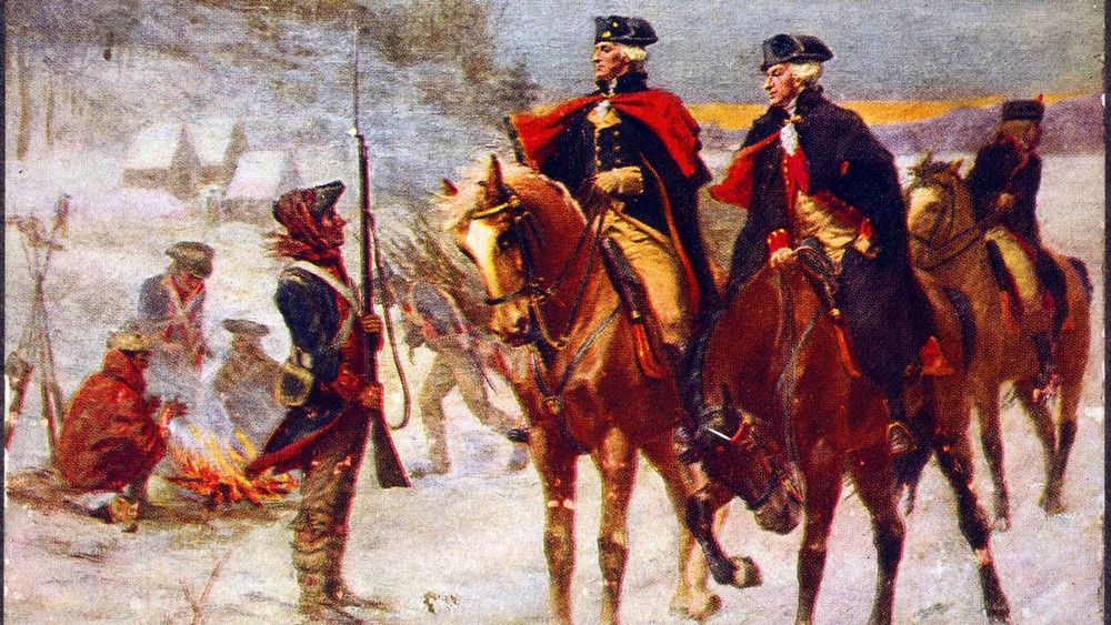 Illustration: George Washington at Valley Forge by John Ward Dunsmore [Public Domain] via Wikimedia
