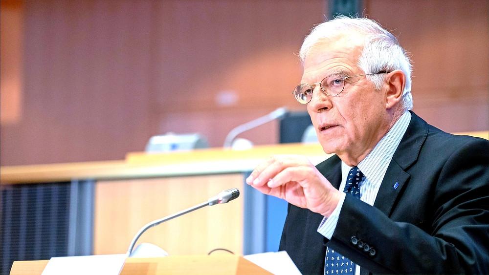 "Illustration: Josep Borrell, EU High Representative/Vice President Speaking to EU Parliament [""CC-BY-4.0: ©European Union 2019 – Source: EP""] via Flickr"