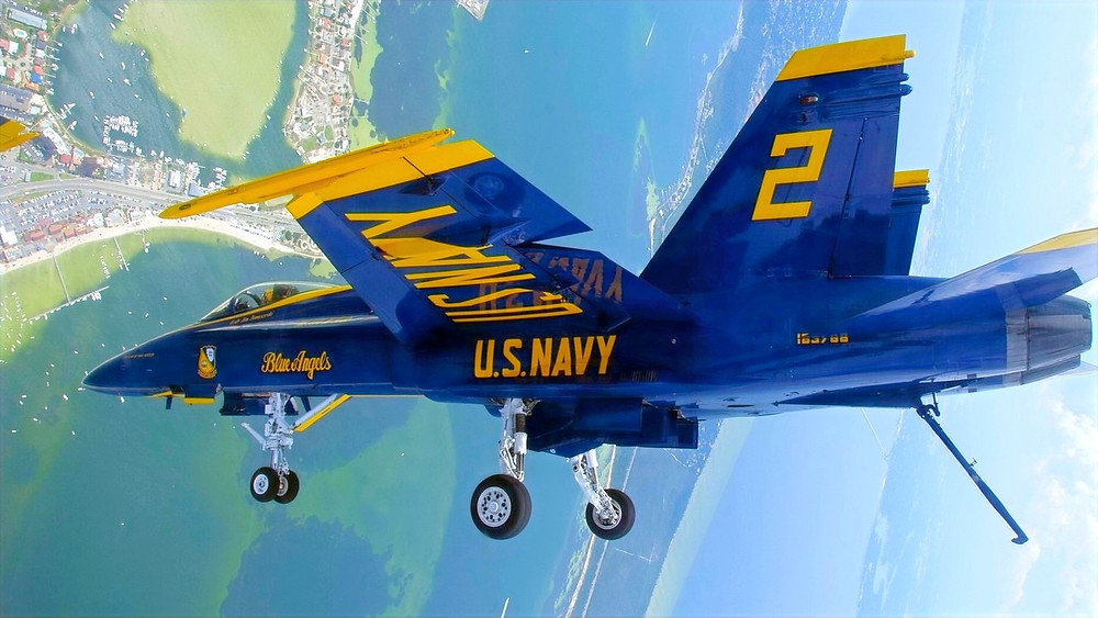 Illustration: NAS Blue Angel Pilot demonstration over Pensacola Beach by Mass Communication Specialist 3rd Class Andrew Johnson/Released [U.S. Navy photo U.S. government work] via Flickr