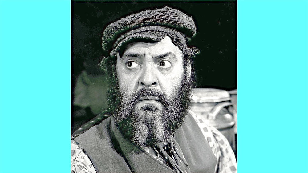 Illustration: Zero Mostel in Fiddler on the Roof by Graphic House, New York - ebay [Public Domain] via Wikimedia