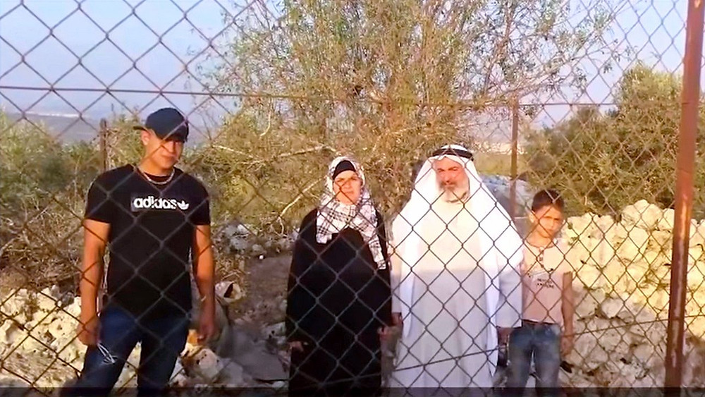 Illustration: Sheikh Wadi Assy and Family Seek Protection, Screenshot (Boomerang's YouTube Weekly J&S Report 01:35)