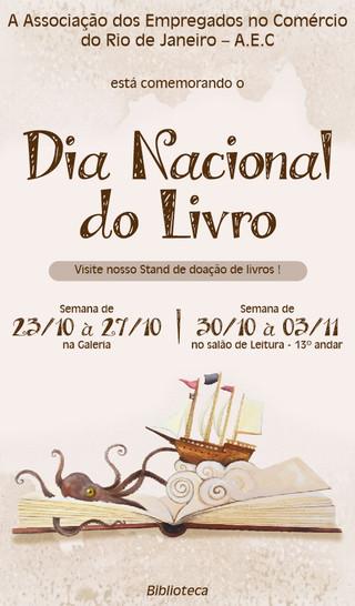 AEC RJ comemora em outubro e novembro o Dia Nacional do Livro