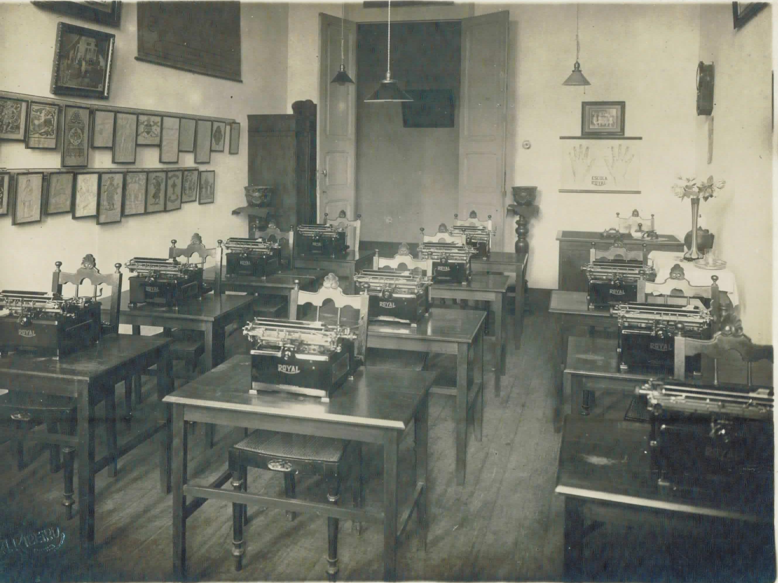 Sala para aula de datilografia