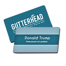 Gutterhead adult party game person/place card