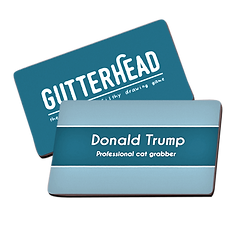 Gutterhead adult party game card