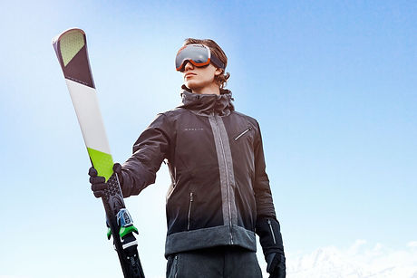 plus size mens ski clothing model