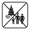 Christmas party game icon