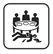 Adult dinner party game icon
