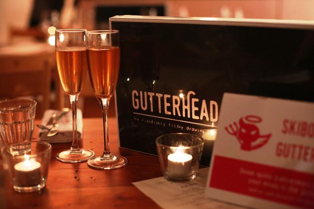 Gutterhead box at dinner party
