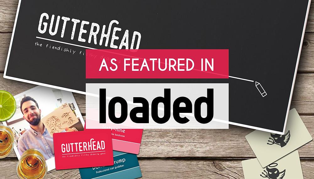 Gutterhead adult party board game in Loaded magazine