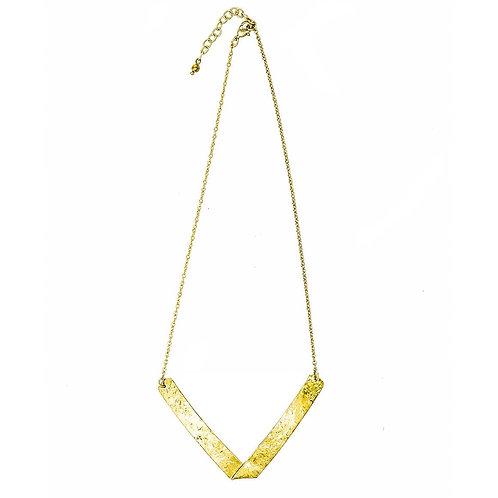 Folded Arrow Necklace