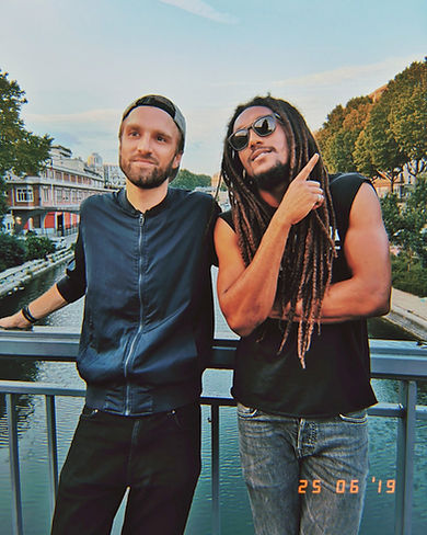 natty gong and bazil in paris recording the reggae song paris to moris