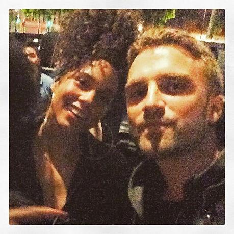 Bazil avec Alicia Keys a paris