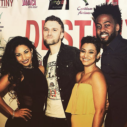 bazil in miami with karian sand lydon forte and sabrina colie at tuff gong destinty movie reggae premiere in florida