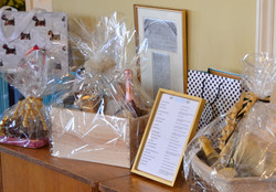 A few of the raffle prizes