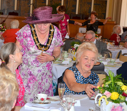 Stratford's Mayor chatting to guests
