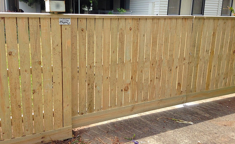 Paling Fence With 10mm Gap & Capping.
