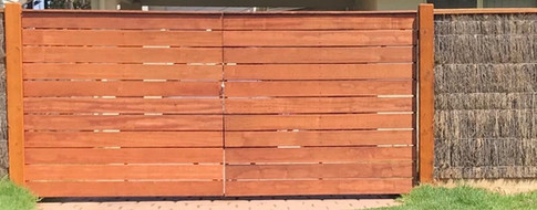 Merbau Decking Gate With Capping.